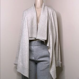 INC size large tan cardigan
